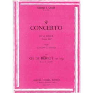 Concerto n° 9 op. 104 - BÉRIOT - Partition - Violon - laflutedepan.com