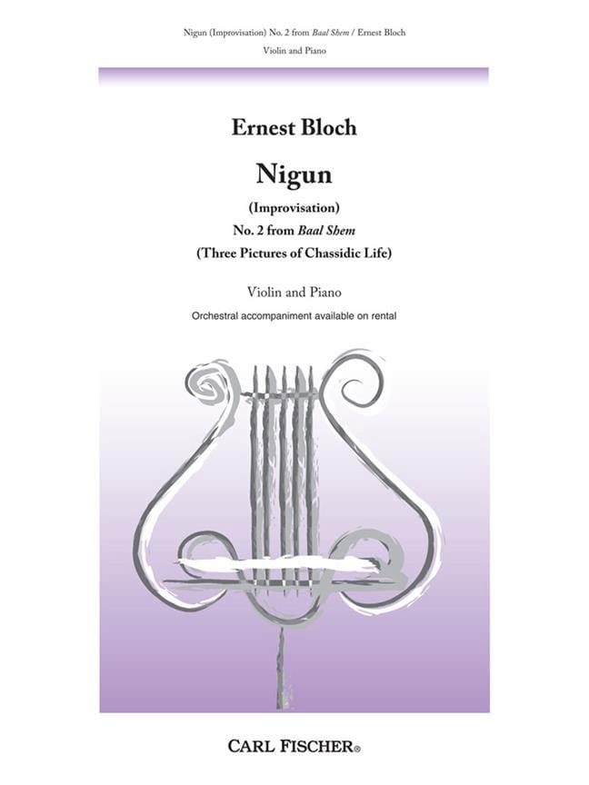 Ernest Bloch - Nigun Improvisation - Partition - di-arezzo.com