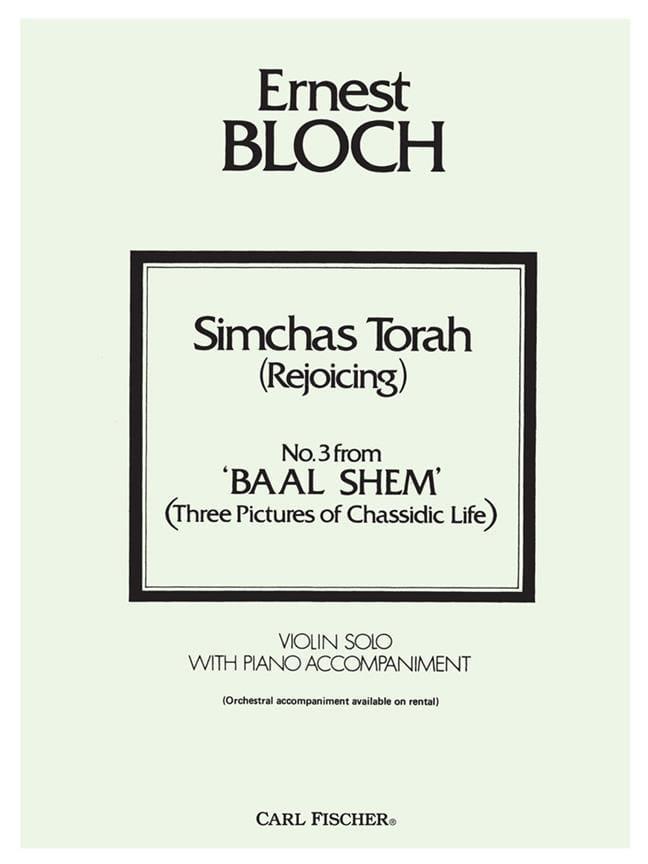 Ernest Bloch - Simchas Torah Rejoicing - Partition - di-arezzo.co.uk