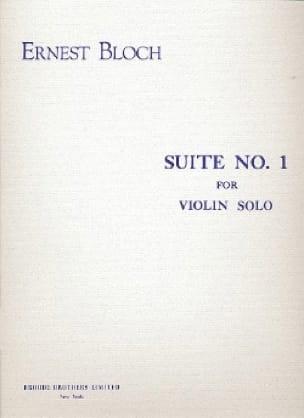 Suite n° 1 - Violin Solo - BLOCH - Partition - laflutedepan.com