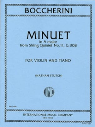 Minuet in A maj. - Violin - BOCCHERINI - Partition - laflutedepan.com