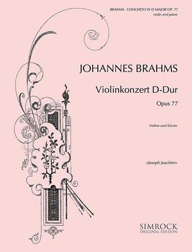 BRAHMS - Violinkonzert D-Dur op. 77 - Partition - di-arezzo.com