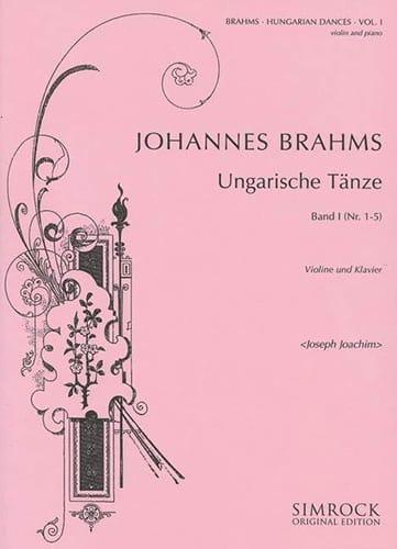 BRAHMS - Ungarische Tänze, Heft 1 n ° 1 - 5 - Partition - di-arezzo.es