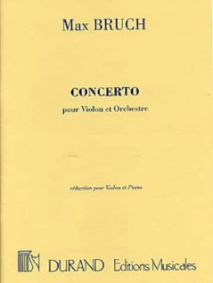 Max Bruch - Violin Concerto No. 1 Op. 26 Minor Floor - Partition - di-arezzo.co.uk