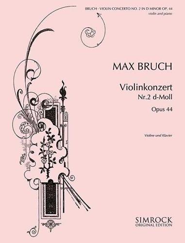 Max Bruch - Violinkonzert D-Moll n ° 2 op. 44 - Partition - di-arezzo.com