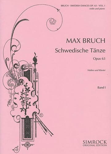 Swedish dances op. 63 Volume 1 - BRUCH - Partition - laflutedepan.com