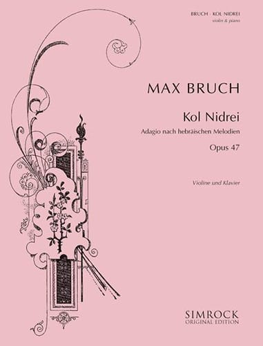 Max Bruch - Kol Nidrei op. 47 - Violin - Partition - di-arezzo.co.uk