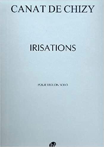 Irisations - de Chizy Edith Canat - Partition - laflutedepan.com