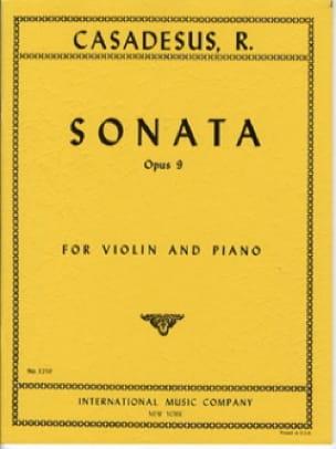 Sonate op. 9 - CASADESUS - Partition - Violon - laflutedepan.com