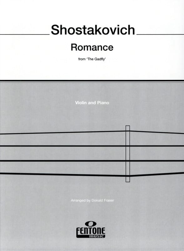 CHOSTAKOVITCH - Romance de The Gadfly - Violín - Partition - di-arezzo.es