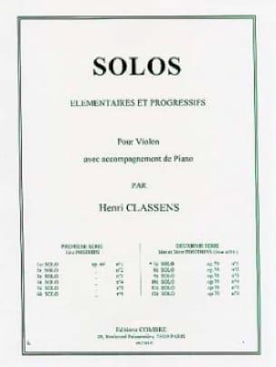 Henri Classens - Solo n ° 7 op. 70 n ° 1 - Partition - di-arezzo.co.uk