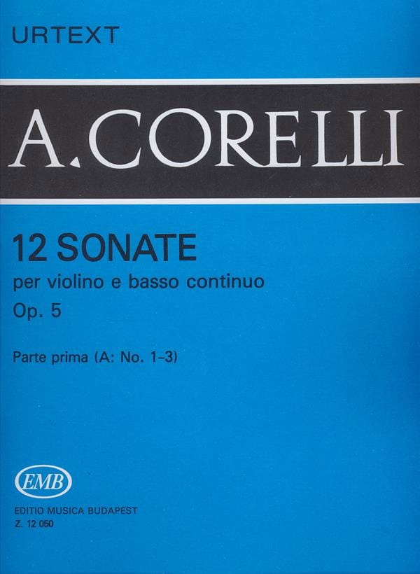 CORELLI - 12 Sonatas op. 5, Volume 1A 1 to 3 - Partition - di-arezzo.co.uk
