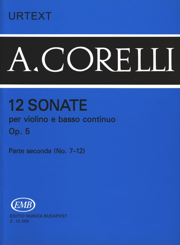 CORELLI - 12 Sonatas Op. 5 Volume 2 7 to 12 - Partition - di-arezzo.co.uk