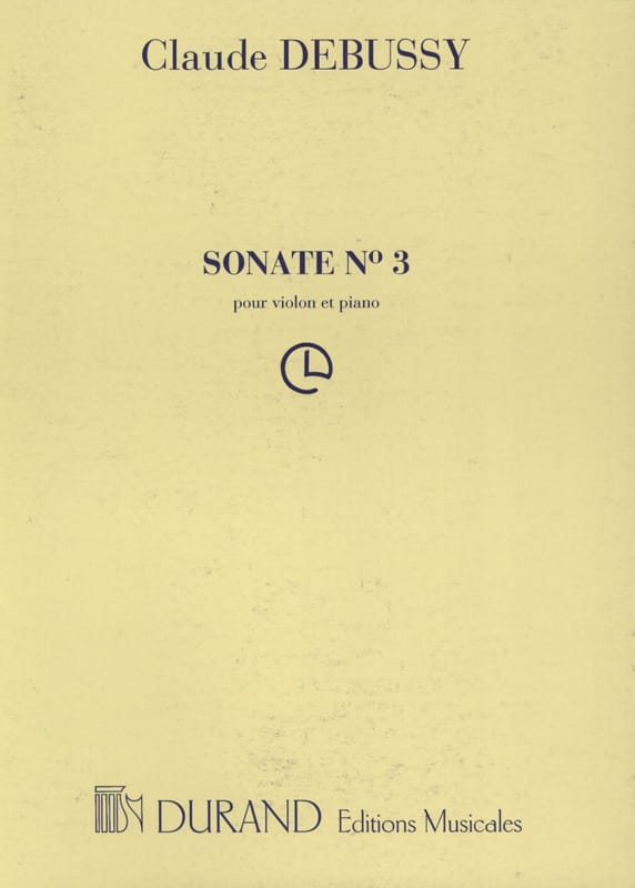 DEBUSSY - Sonata for violin and piano - Partition - di-arezzo.co.uk