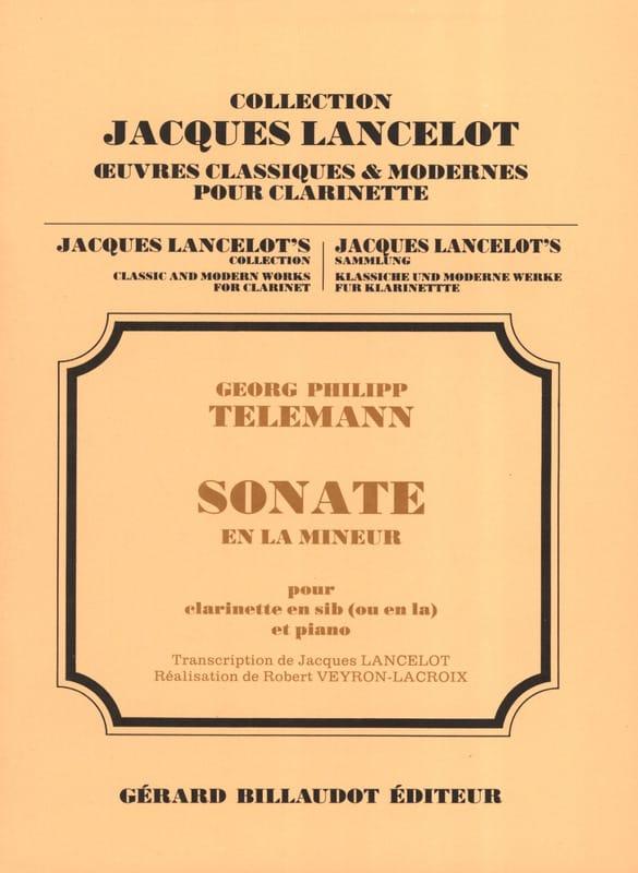 Sonate en la Mineur - TELEMANN - Partition - laflutedepan.com