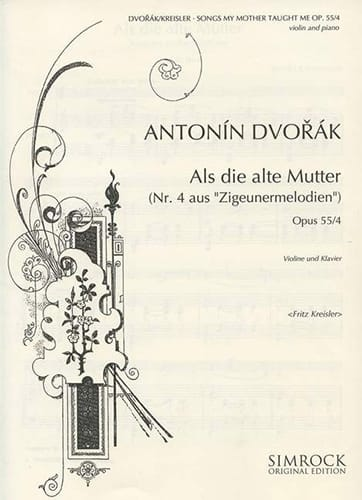 DVORAK - Songs my mother taught me op. 55 n ° 4 - Partition - di-arezzo.co.uk