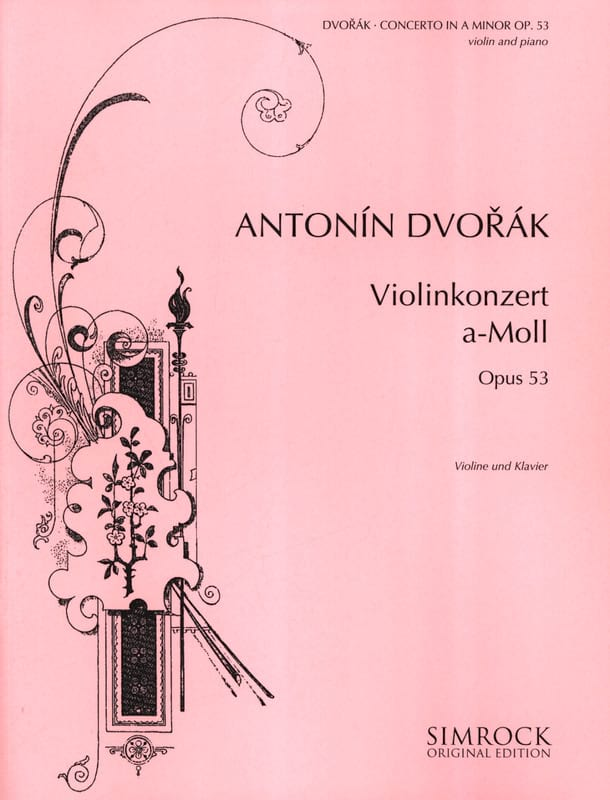 DVORAK - Violin Concerto op. 53 in A minor - Partition - di-arezzo.co.uk