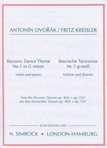 Slavonic dance-themes n° 1 in G minor - DVORAK - laflutedepan.com