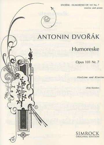 DVORAK - Humoreske op.101 n° 7 Kreisler - Partition - di-arezzo.fr