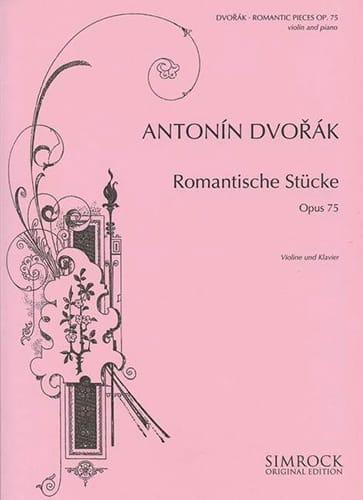 DVORAK - Romantische Stücke op. 75 - Partition - di-arezzo.fr