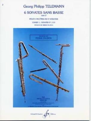 TELEMANN - 6 Sonates sans Basse Op. 2 Cahier 1 - Partition - di-arezzo.fr