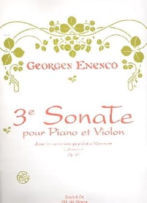 Sonate n° 3 op. 25 - ENESCO - Partition - Violon - laflutedepan.com