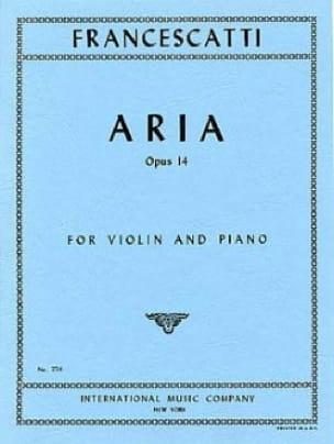 Aria op. 14 - Zino Francescatti - Partition - laflutedepan.com