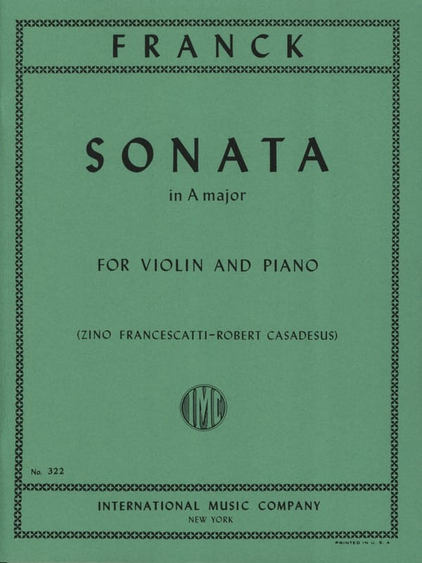 César Franck - Sonata in A major - Violin - Partition - di-arezzo.co.uk