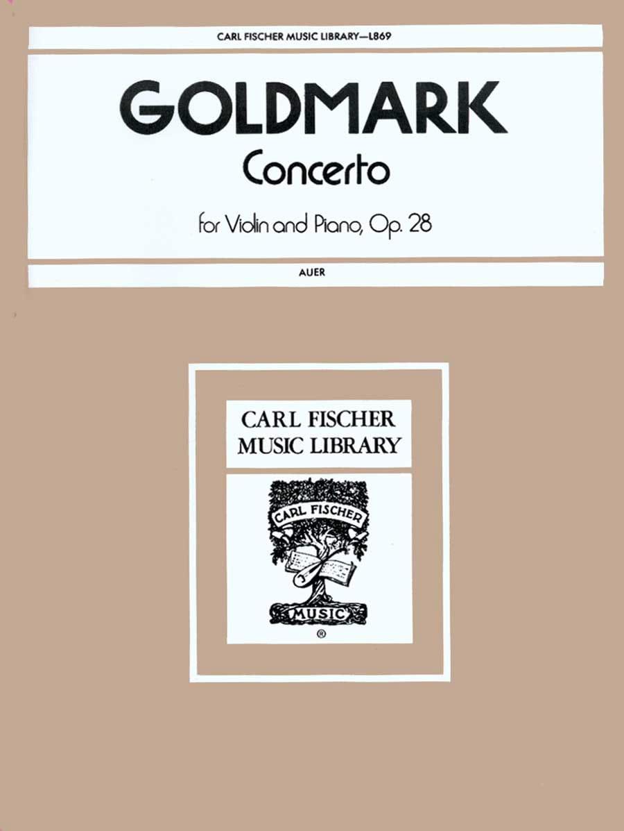 Concerto Violon op. 28 - Carl Goldmark - Partition - laflutedepan.com