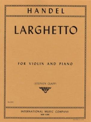 Larghetto - Violon - HAENDEL - Partition - Violon - laflutedepan.com