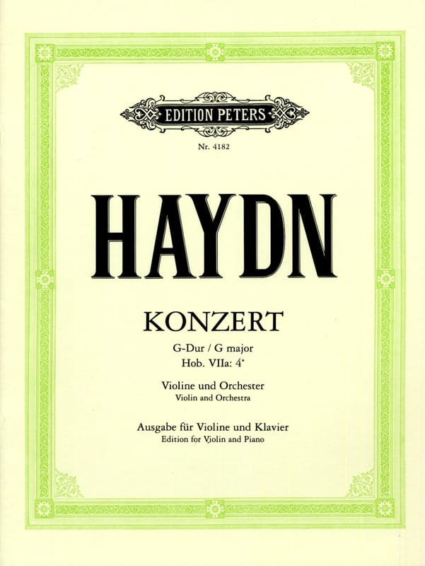 HAYDN - Violin Concerto in G major Hob. 7a: 4 - Partition - di-arezzo.co.uk