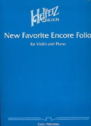 Jascha Heifetz - New Favorite Encore Folio - Partition - di-arezzo.co.uk