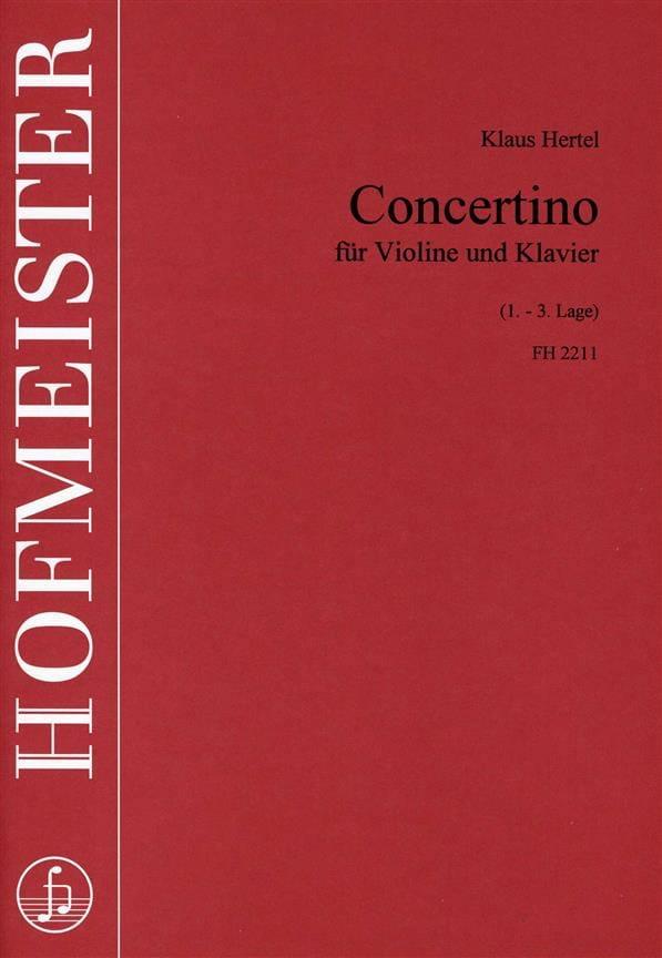Concertino - Klaus Hertel - Partition - Violon - laflutedepan.com