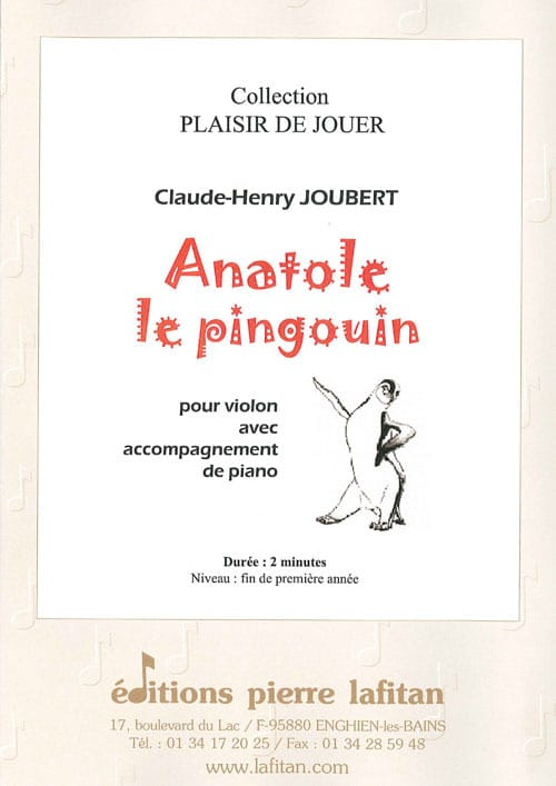 Claude-Henry Joubert - Anatole the Penguin - Partition - di-arezzo.com