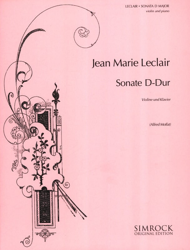 Jean-Marie Leclair - Sonata D-Dur - Partition - di-arezzo.co.uk