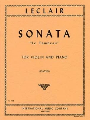 Jean-Marie Leclair - Sonate The Tomb - Violin - Partition - di-arezzo.co.uk