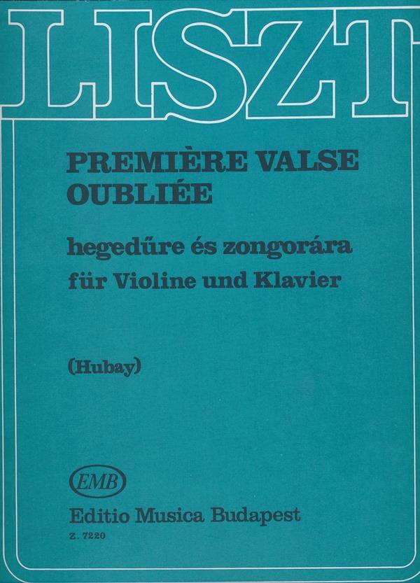 Première valse oubliée - LISZT - Partition - Violon - laflutedepan.com