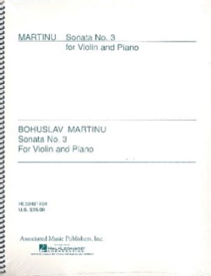 Bohuslav Martinu - Sonata N ° 3 - Partition - di-arezzo.co.uk