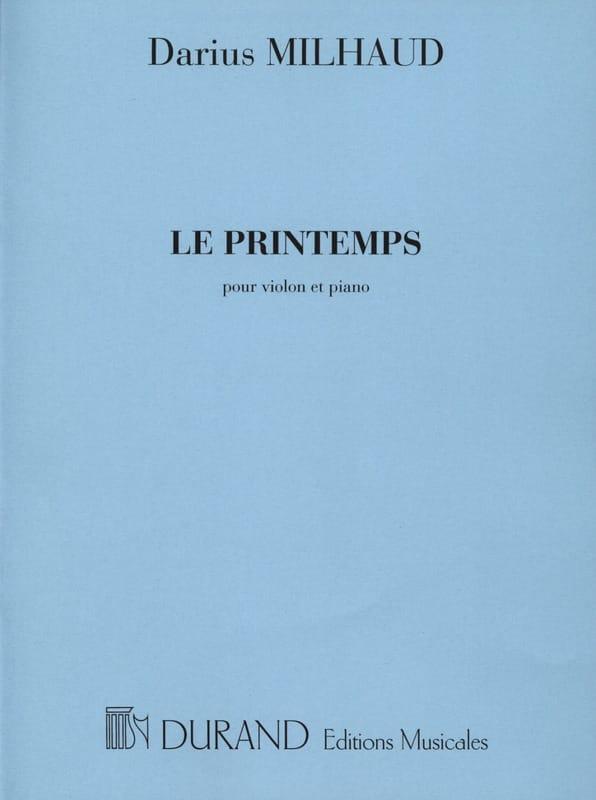 Darius Milhaud - Le printemps - Partition - di-arezzo.fr