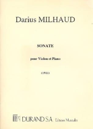 Darius Milhaud - Sonate 1911 - Violon - Partition - di-arezzo.fr