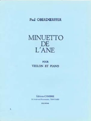 Paul Oberdoerffer - Minuetto of the ass - Partition - di-arezzo.com