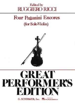 4 Paganini Encores - PAGANINI - Partition - Violon - laflutedepan.com