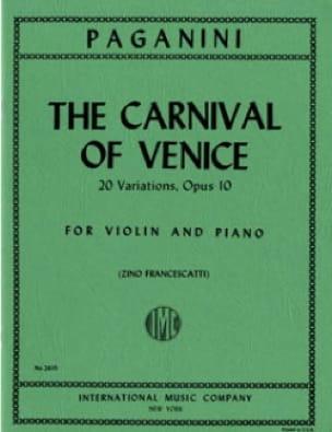 Le Carnaval de Venise - Violon et Piano - PAGANINI - laflutedepan.com