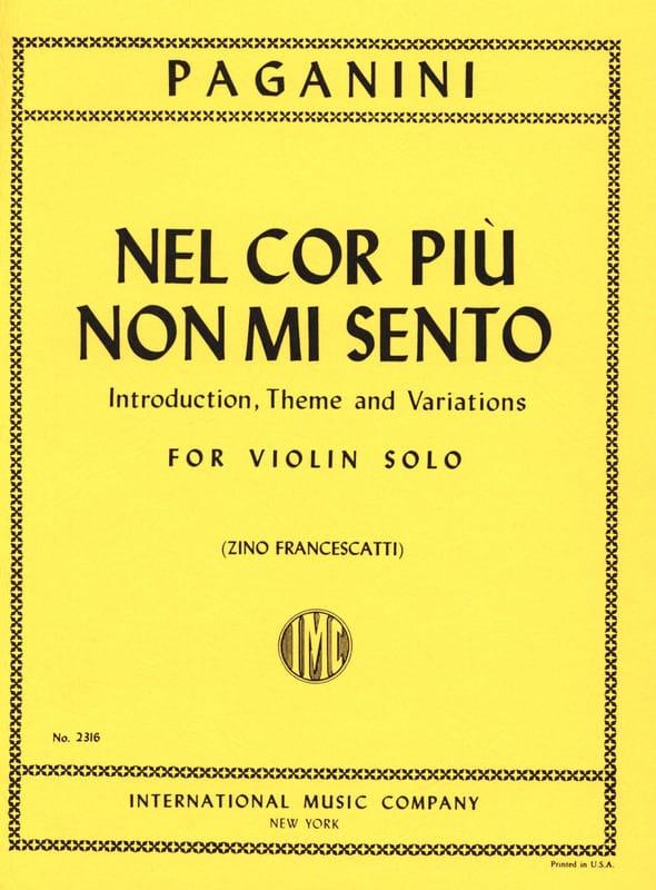 Niccolò Paganini - Nel cor piu no mi mi - Partition - di-arezzo.co.uk