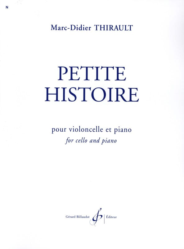 Marc-Didier Thirault - Petite Histoire - Partition - di-arezzo.fr