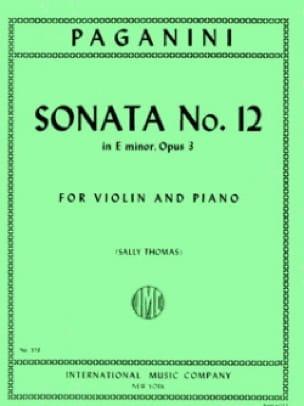 Sonata n° 12 in E minor, op. 3 - PAGANINI - laflutedepan.com