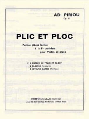 Plic et Ploc n° 2 : Sagesse, op. 35 - Ad. Piriou - laflutedepan.com