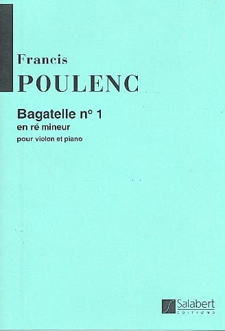 Francis Poulenc - Bagatelle N ° 1 D Minor - Partition - di-arezzo.co.uk