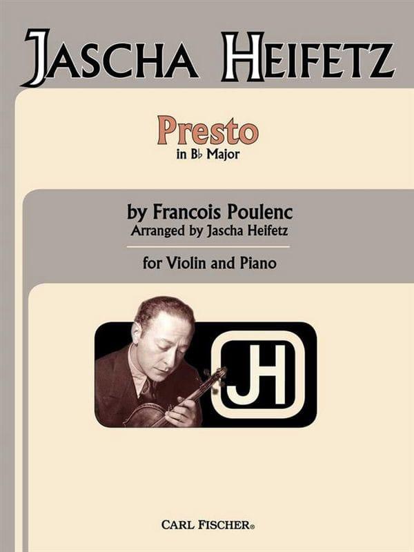 Francis Poulenc - Presto in B flat - Partition - di-arezzo.co.uk