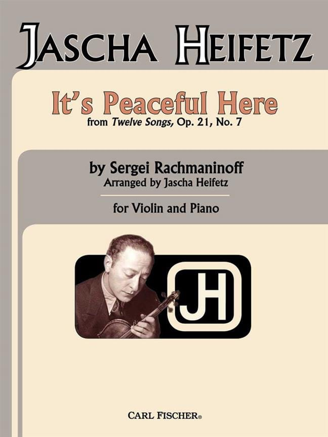 RACHMANINOV - It's peaceful here op. 21 n ° 7 - Partition - di-arezzo.co.uk